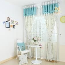 rideau pour chambre enfant deux couleurs imprimé forêt de chignons conception enfants
