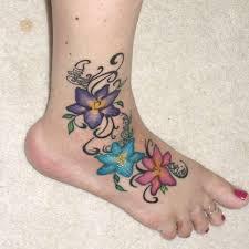 unusual orchid tattoo 3 orchid foot tattoo on tattoochief com