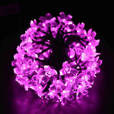 Best Solar String Lights by Best Solar Powered 50 Led Pink Cherry String Lights Solar