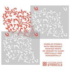 Decorative Wall Stencils Victoria Scroll Stencil Pattern Decorative Wall Stencils For