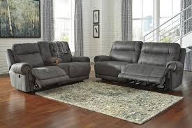 Grey Recliner Sofa Leather Recliner Sofa Set 3 2 Seater Black