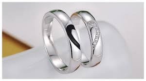 Heart Wedding Rings by 2 Half Heart Promise Rings For Couples Matching His And Hers Cz