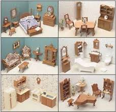 dollhouse furniture kitchen dollhouse furniture kit set wood 6 six rooms dining bathroom
