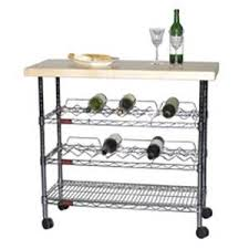 eagle group wr1840c mobile kitchen wine cart bar w maple butcher