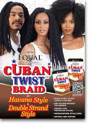 cuban twist hair freetress equal double strand style synthetic braid cuban twist 12