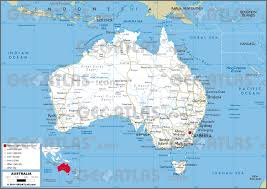 New Zealand And Australia Map Geoatlas Countries Australia Map City Illustrator Fully
