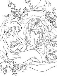 disney cartoon mermaid coloring pages womanmate