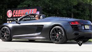 audi r8 spyder black matte black audi r8 v10 spyder w supersport exhaust revs