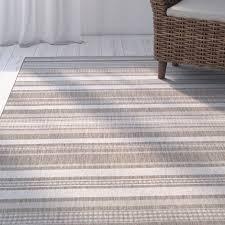 Beige And Gray Rug Beachcrest Home Anguila Stripe Gray Beige Indoor Outdoor Area Rug