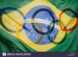 Brazil Flag Image Brazil Flag And Olympic Flag Stock Photo Royalty Free Image
