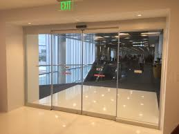 store front glass doors record 5200 series automatic all glass sliding door