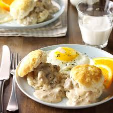 biscuits and sausage gravy recipe taste of home