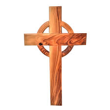 olive wood celtic cross the catholic company
