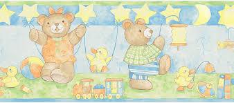 bordüre kinderzimmer selbstklebend hyundae sheet bordüre tapeten borte bärenfamilie teddy babyzimmer