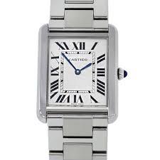 stainless steel cartier bracelet images Cartier tank solo stainless steel large bracelet watch boca raton jpg