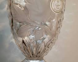 Antique Lead Crystal Vase German Lead Crystal Etsy