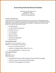 Resume For Internship Example by Internship Resume Example
