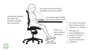 hauteur standard bureau ordinateur comment agencer bureau de façon ergonomique et matériel