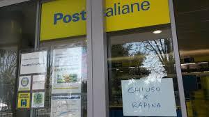 rapina in rapina in un ufficio postale nel reggino bottino da 2 mila