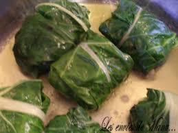 cuisiner des feuilles de blettes feuilles de blettes farcies à la viande et au riz le de manu