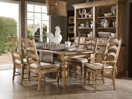 Country Dining Room Sets by French Country Dining Room With Rustic Wood Table And Slat Back
