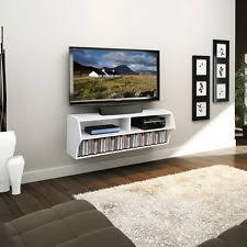 Wall Mounted Dvd Shelves Homcom Wall Mount Tv Stand Floating Shelves Dvd Storage Media