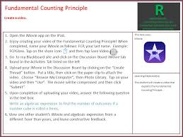 fundamental counting principle 1 go to my blackboard site and