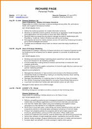 Resume Description Examples by Personal Profile Format In Resume Resume For Your Job Application