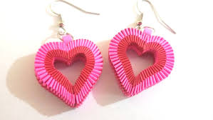 paper ear rings 6 how to make paper weaving heart shape earrings