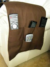 Armchair Caddies Tv Remote Control Organizer Caddy 6 Pocket Dark Brown