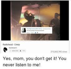 Radiohead Meme - 25 best memes about radiohead creep radiohead creep memes