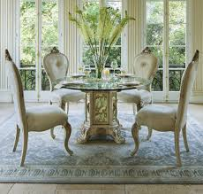 Round Glass Top Dining Table Set Aico Platine De Royale 54