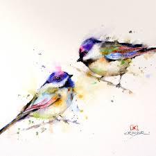watercolor tutorial chickadee chickadee watercolor print bird art painting by dean crouser