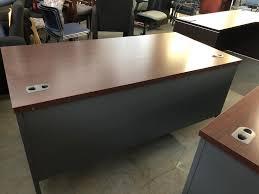Hon Office Desk Used Office Desks Metal Manager S Desk By Hon Office Furniture