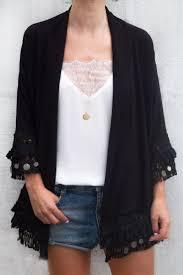 veste de cuisine pas cher noir best kimono noir ideas frange inspirations et veste de cuisine pas