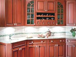 Kitchen Countertops Backsplash - cherry kitchen cabinet backsplash ideas my home design journey