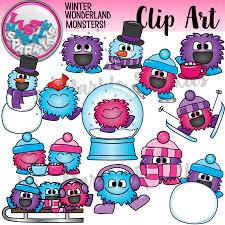 winter happy monsters clipart winter activities activities and