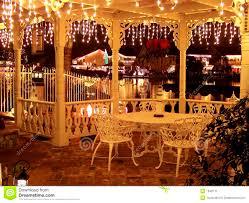 bedroom interesting christmas lights decorated gazebo