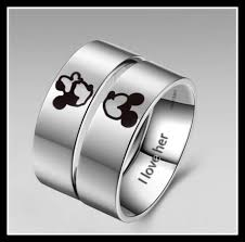 his and hers rings vancaro s titanium disney inspired his hers rings disney s