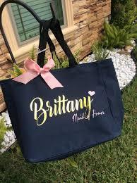 bridal party tote bags bridesmaid tote bag destination wedding bridesmaid gift custom