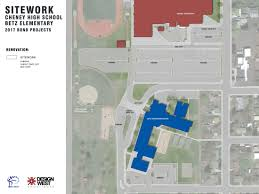Spokane Community College Map Proposed Projects U2013 2017 Bond U2013 Cheney District