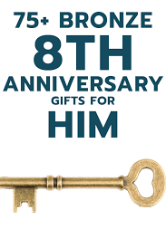 8th anniversary gifts for 75 bronze 8th anniversary gift ideas for him unique gifter