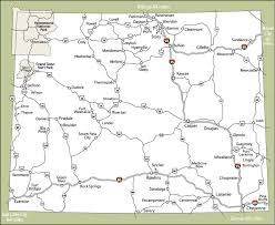 Wyoming the travelers images Maps of dallas printable map of wyoming jpg