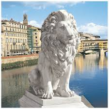 lion statue design toscano lion of florence sentinel statue reviews wayfair