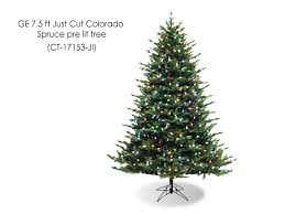 ge 7 5 ft just cut colorado spruce pre lit tree ct 17153 ji
