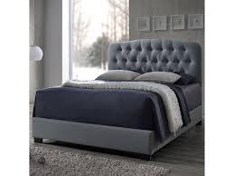 crown mark tilda light grey king upholstered bed del sol