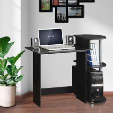 Compact Computer Desk Furinno Compact Oak Grey Computer Desk 11181gyw Bk The