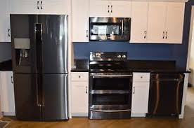 Kitchen Appliances Packages - samsung 4 black stainless kitchen appliance package range fridge