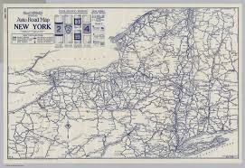 Ny State Road Map by Auto Road Map New York David Rumsey Historical Map Collection