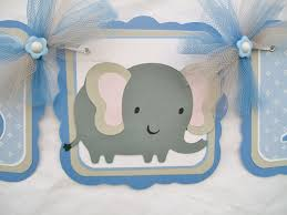 blue and grey elephant baby shower garland blue and grey baby